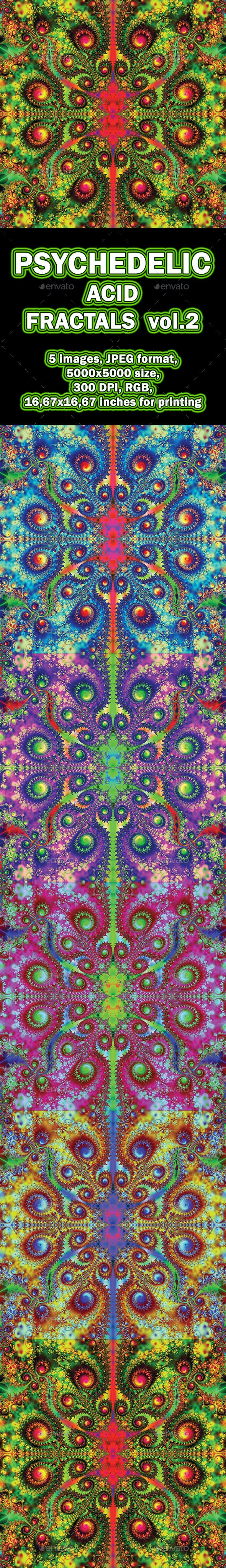 Acid Psychedelic Fractals vol.2 - Abstract Backgrounds