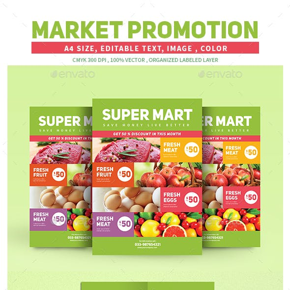 Market Product Promotion Flyer