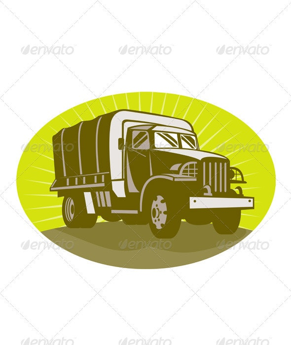 Military Army Personnel Carrier Truck - Man-made Objects Objects