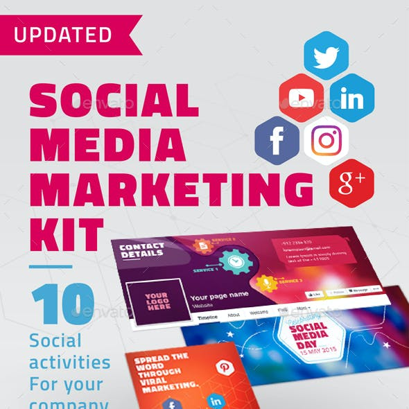 Facebook Cover and Social Media Marketing Kit
