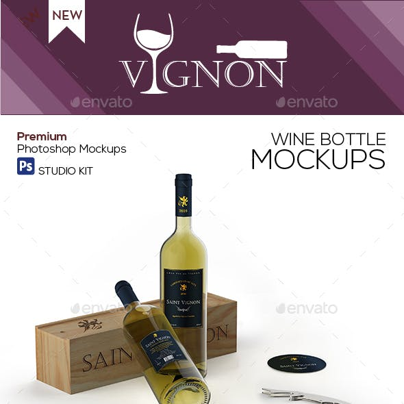 Vignon - Wine Mockup Studio Kit