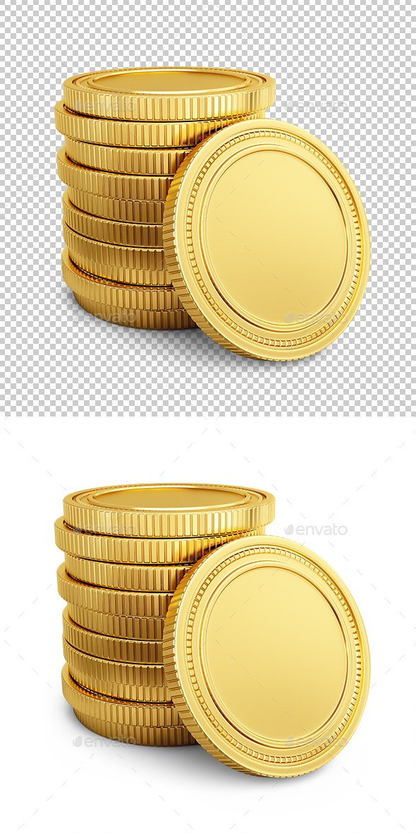Gold coins - Objects 3D Renders