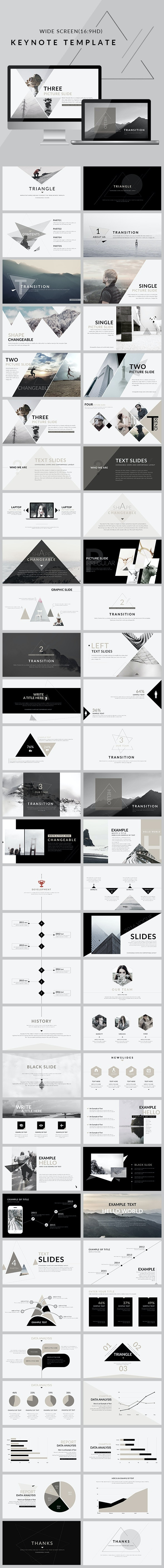Triangle - Clean trend Keynote Template - Creative Keynote Templates