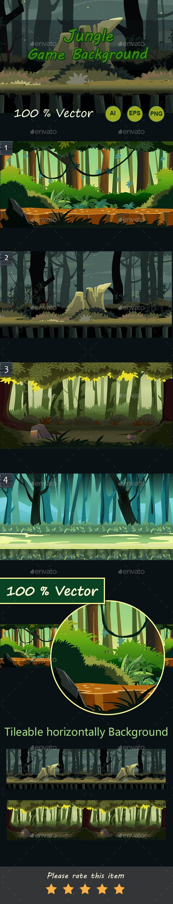 Jungle Game Background - Backgrounds Game Assets