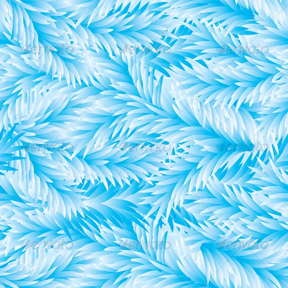 Frost Fir-Tree Seamless Pattern - Patterns Decorative