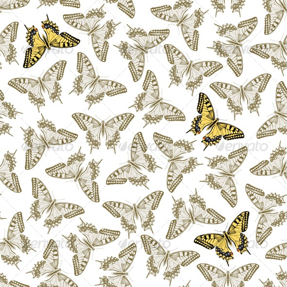 Seamless Butterfly Texture - Backgrounds Decorative