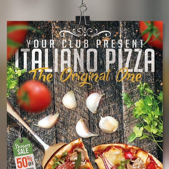 Italian pizza vol2 flyer template