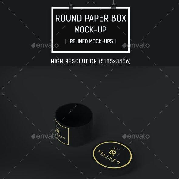 Open Round Box Mock-up