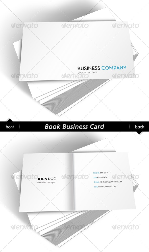 Book Business Card - Creative Business Cards