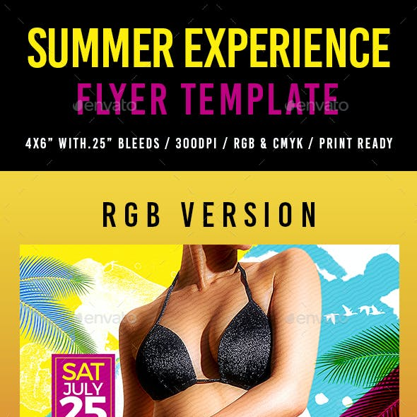 Summer Experience Flyer Template