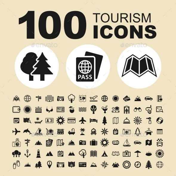 Tourism Vector Icons - Icons