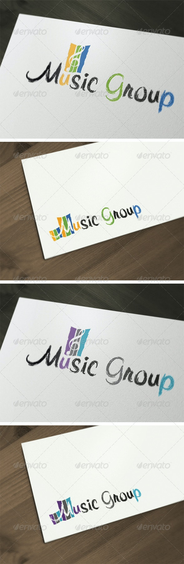 Music Group Logo Template - Vector Abstract