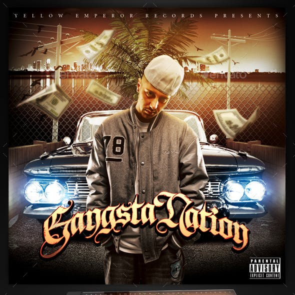 Mixtape / CD Cover Template - Gangsta Nation
