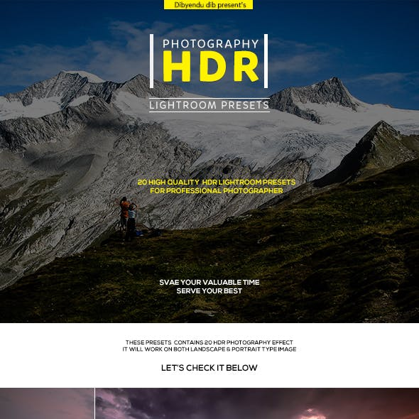 Photography HDR Lightroom Presets