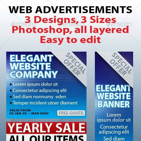 Web Advertisements/Banners