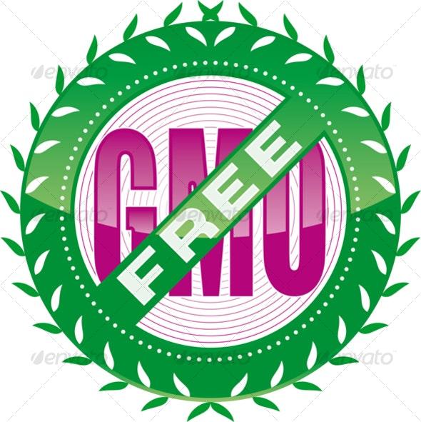 GMO-free banner - Health/Medicine Conceptual