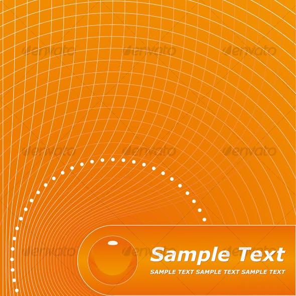 orange title page design