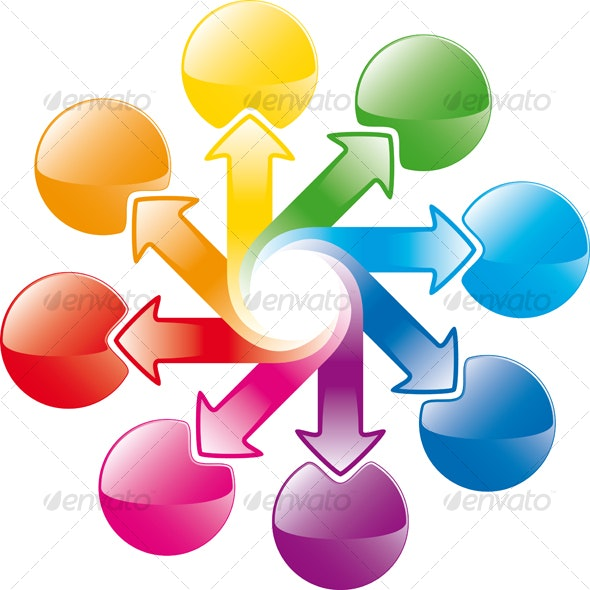 rainbow cycle arrows - Decorative Symbols Decorative