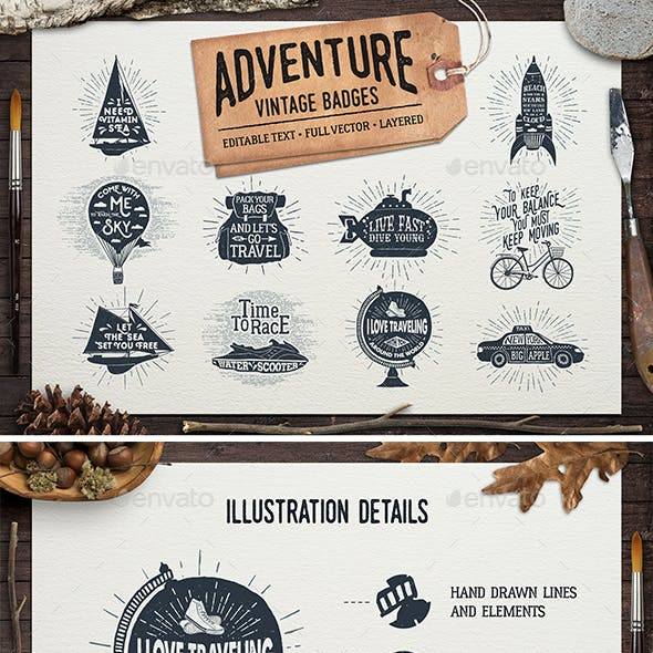 Adventure Vintage Badges (part 2)