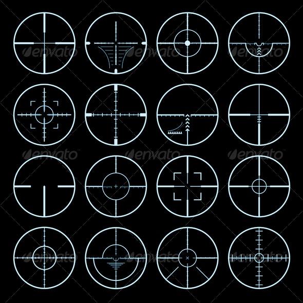 crosshairs vector set - Characters Vectors