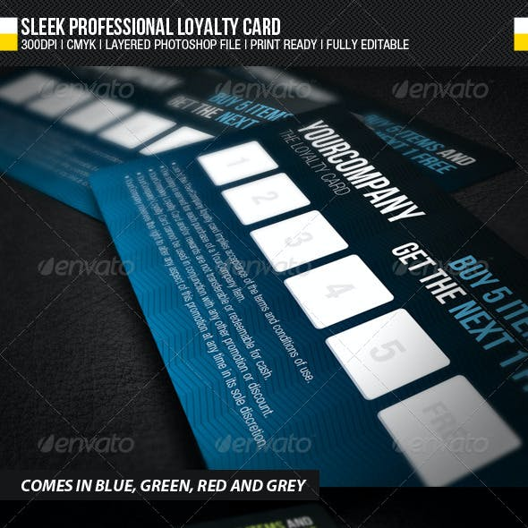 Sleek Professional Loyalty Card