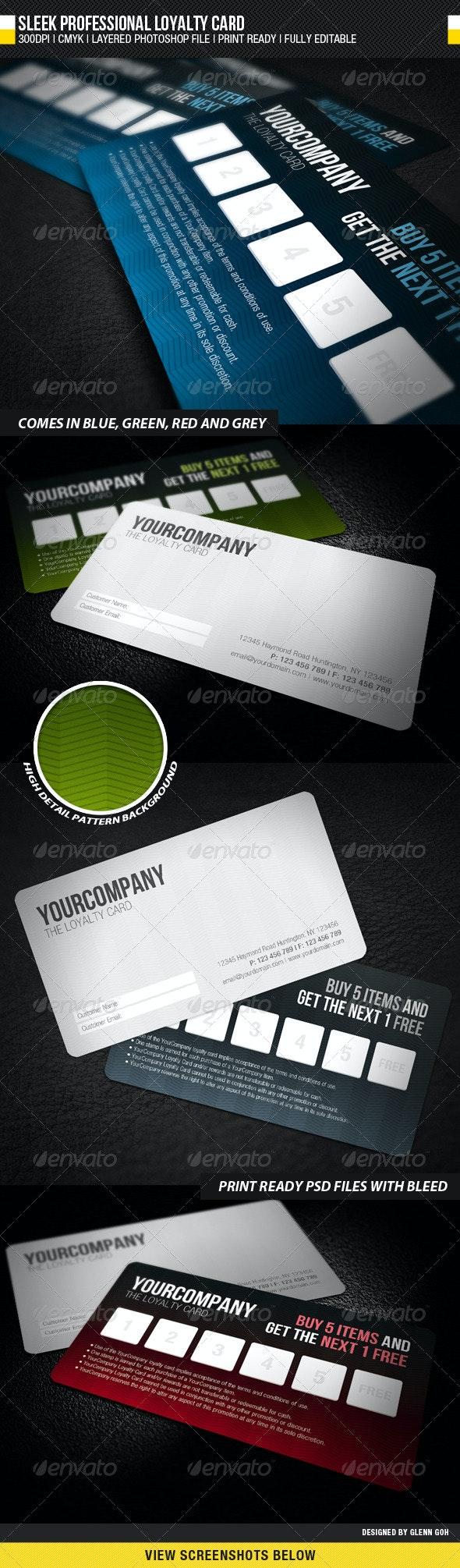 Sleek Professional Loyalty Card - Loyalty Cards Cards & Invites