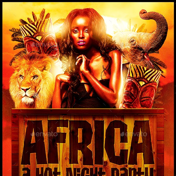 Africa Party Flyer