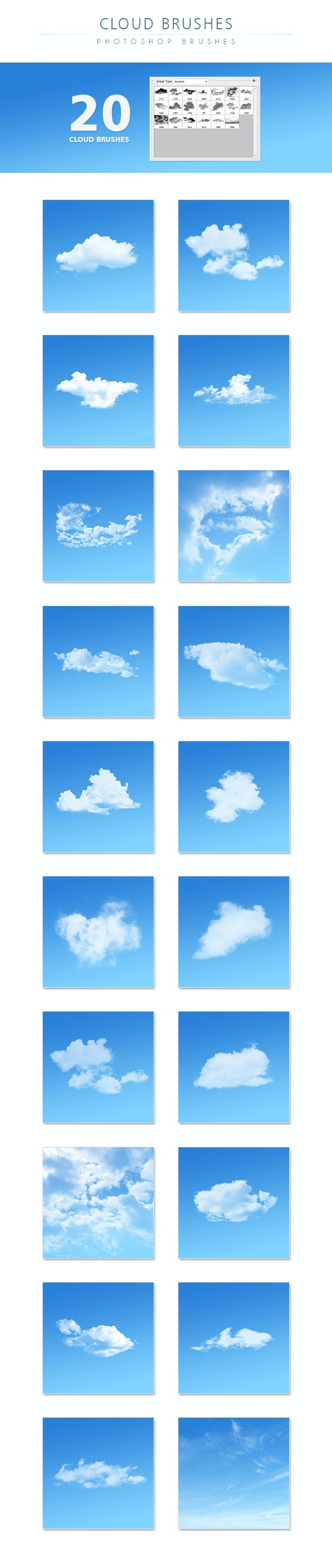 Cloud Brushes - Texture Brushes