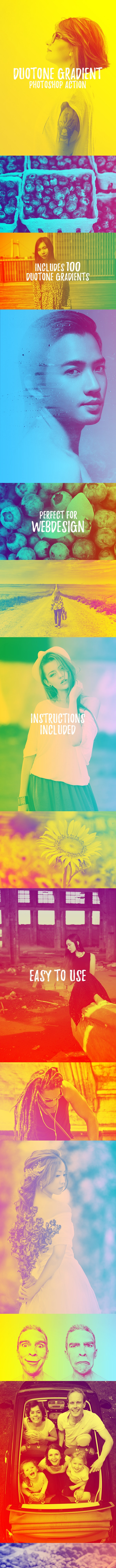 Duotone Gradient Photoshop Action - Photo Effects Actions