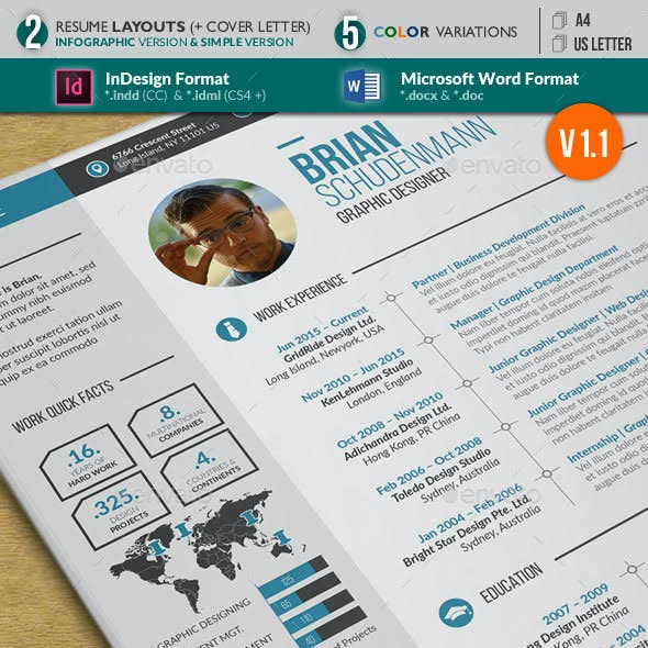 Resume Infographic and Simple