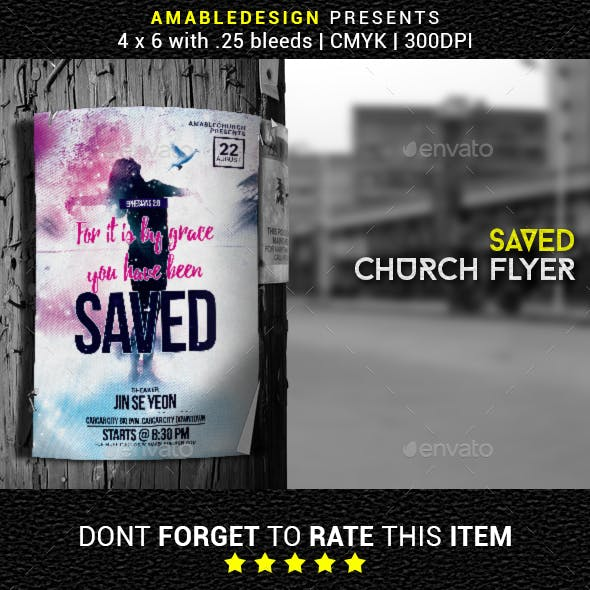 Saved Church Flyer/Poster