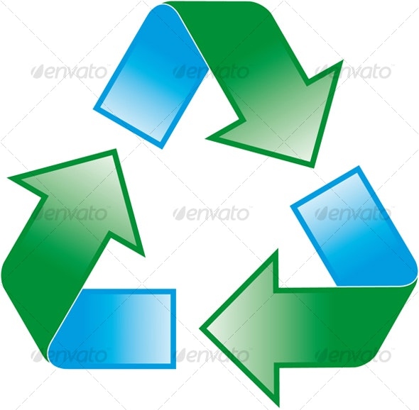universal recycling symbol - Technology Conceptual