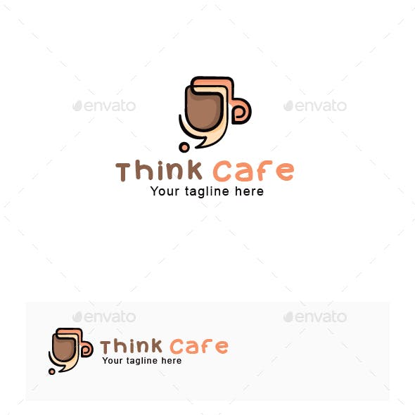 Think Cafe - Creative Coffee Shop Stock Logo Template