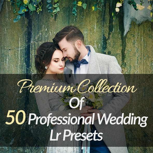 50 Premium Wedding Lightroom Presets Collection