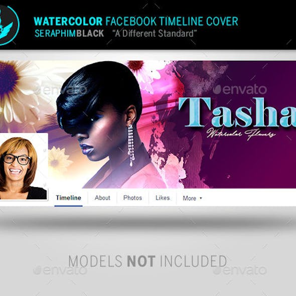 Watercolor Facebook Timeline Template