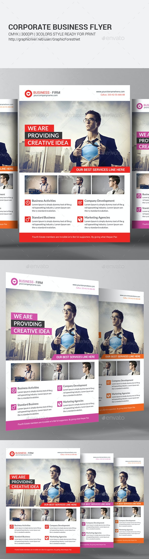Business Solution Flyer Template - Corporate Flyers