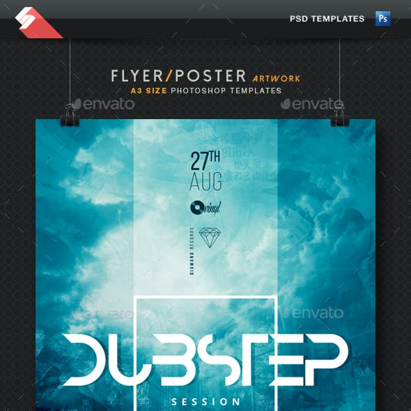 Dubstep Session - Party Flyer / Poster Template A3