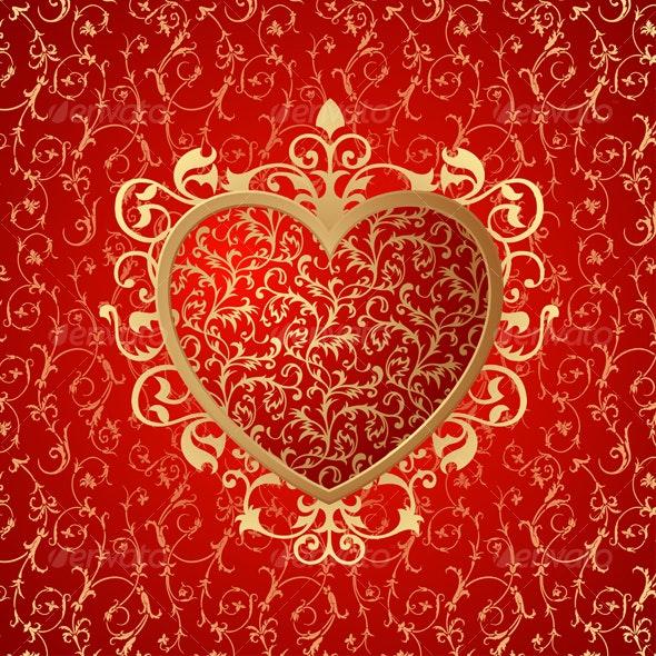 Heart ornament background - Backgrounds Decorative
