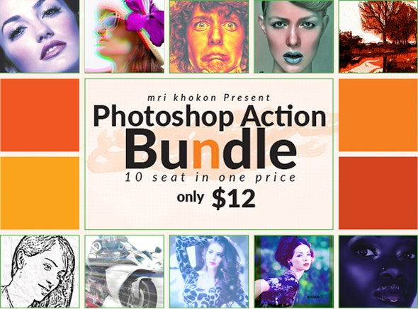 Photoshop Actions Bundle - Actions Photoshop