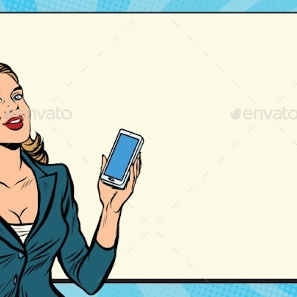 Businesswoman with Smartphone in Hand