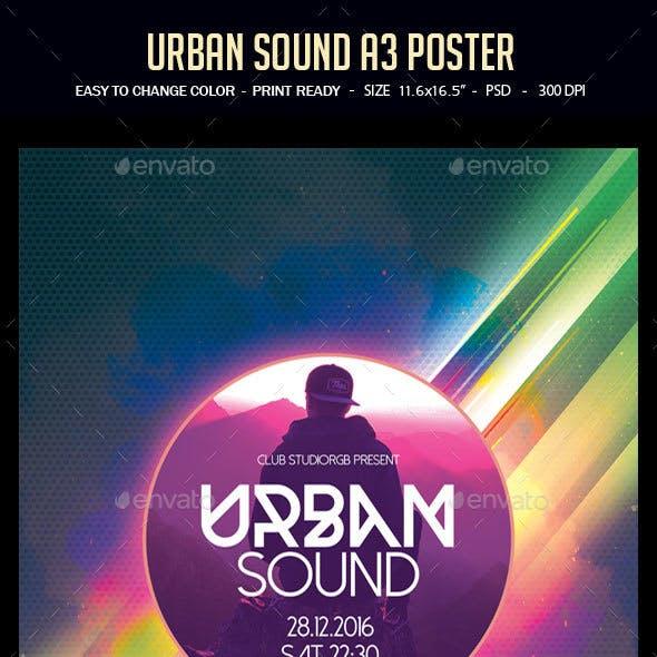 Urban Sound A3 Poster