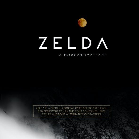 ZELDA typeface (OUTLINE)