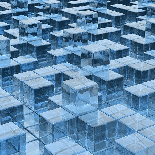 ice cubes background - 3D Backgrounds