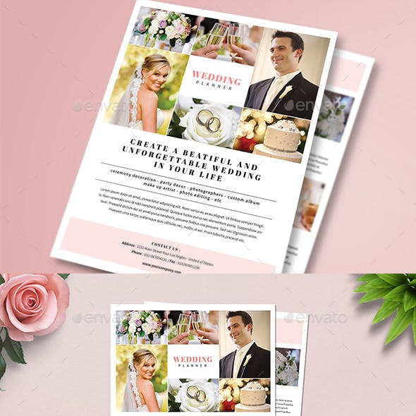 Simple Wedding Planner Flyer