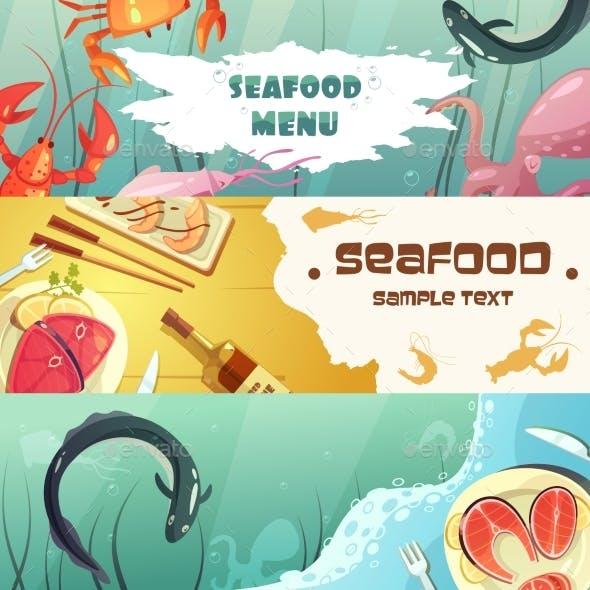 Seafood Menu Banners