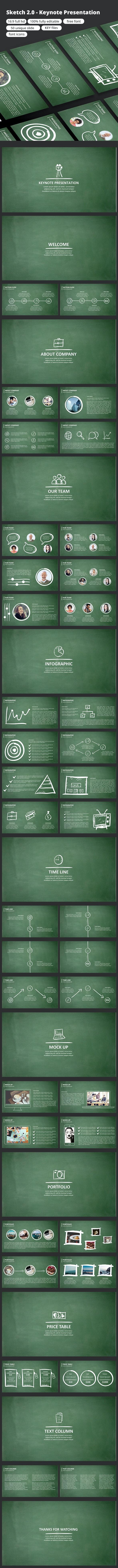 Sketch 2.0 - Keynote Presentation - Business Keynote Templates