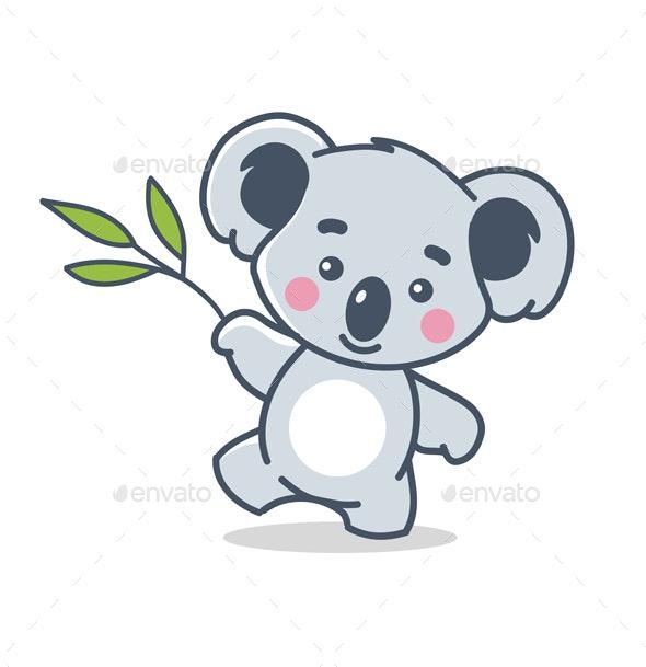 Koala on White - Animals Characters