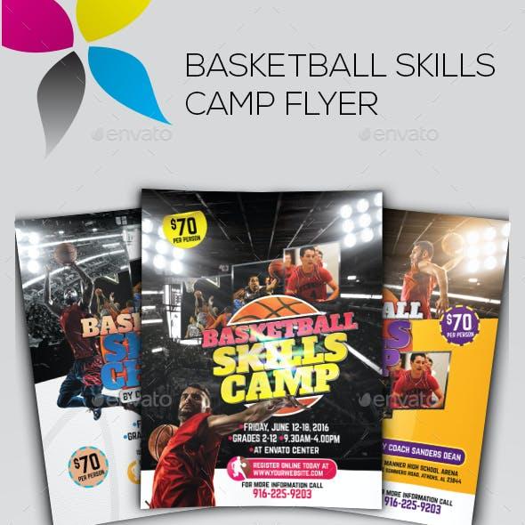 Basketball Skills Camp Flyer