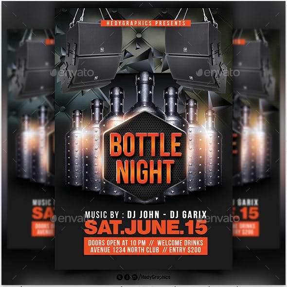 Bottle night Flyer