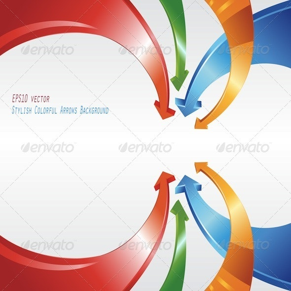 Stylish Colorful Arrows Abstract Background - Abstract Conceptual